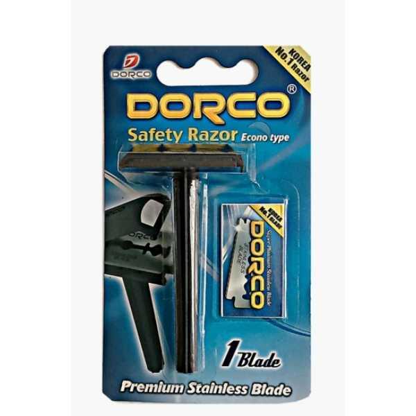Классический бритвенный станок Dorco SG A1000 в блистере + 5 запасных лезвий.