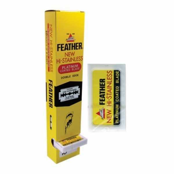 Двусторонние лезвия Feather (Япония) блок 20 упаковок по 10 двусторонних лезвий