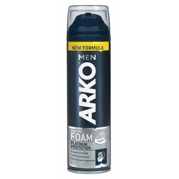 Пена для бритья Arko Men Platinum Protection защищающая, 200 мл