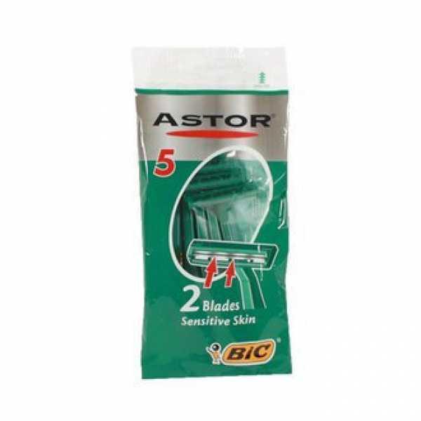 Бритвы одноразовые Bic Astor для нормальной кожи 5шт.