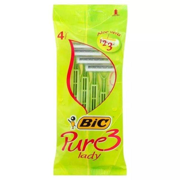Bic Pure 3 Lady Одноразовые станки, 4 шт