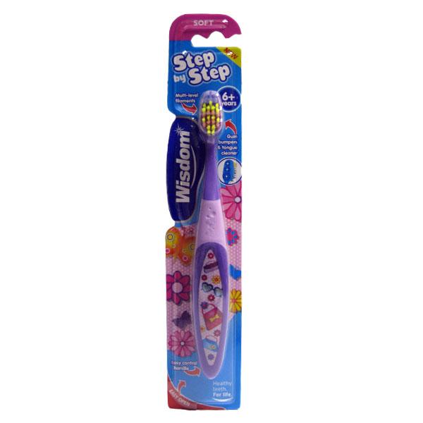 Детская зубная щетка Wisdom Step by Step 6+