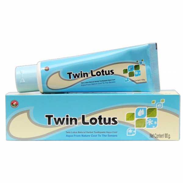 Растительная зубная паста «Twin Lotus Aqua Cool» (Морская свежесть)