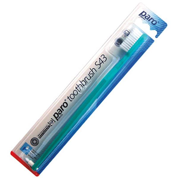 Зубная щетка Paro S43 Interspace с мягкой щетиной.