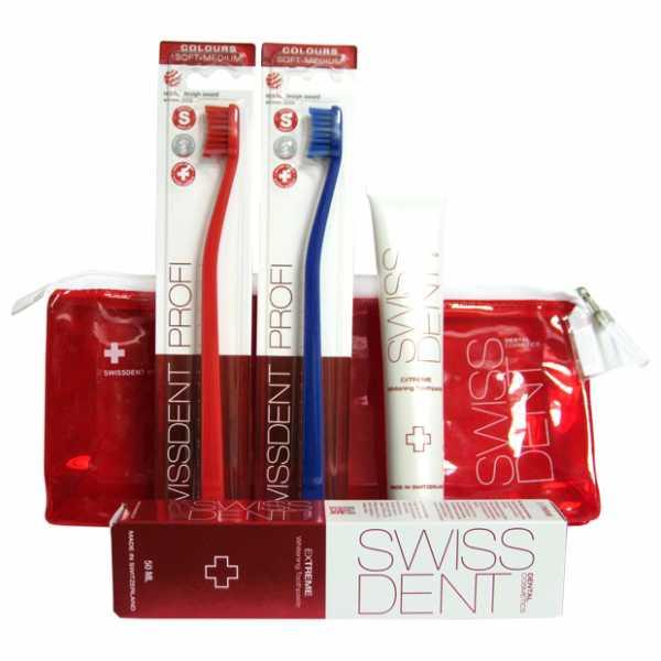 Набор для чистки зубов Swissdent Дорожный
