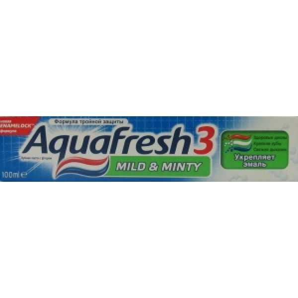 Аквафреш Зубная паста Мягко- мятная (зеленая) 100мл
