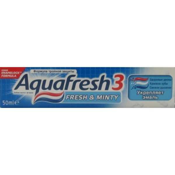 Аквафреш Зубная паста освежающая -мятная (синяя) 50мл