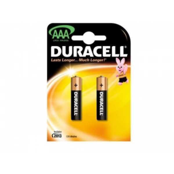 Дюраселл (Duracell) батарейка 2-х шт AAA (миз.) mn 2400