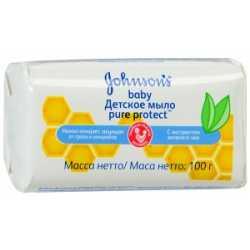 """Jonson (Джонсон) Мыло с экстрактом зеленого чая """"Pure Protect""""  100 гр."""