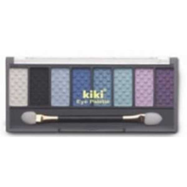 KIKI (КИКИ) Тени 8-ми цветные 801 бел, черн, гол, индиго, син, лазурь, роз,фиолет