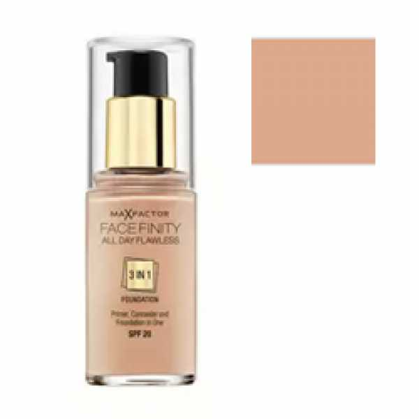 MAX FACTOR Тональная Основа Facefinity All Day Flawless 3-in-1 45 тон warm almond