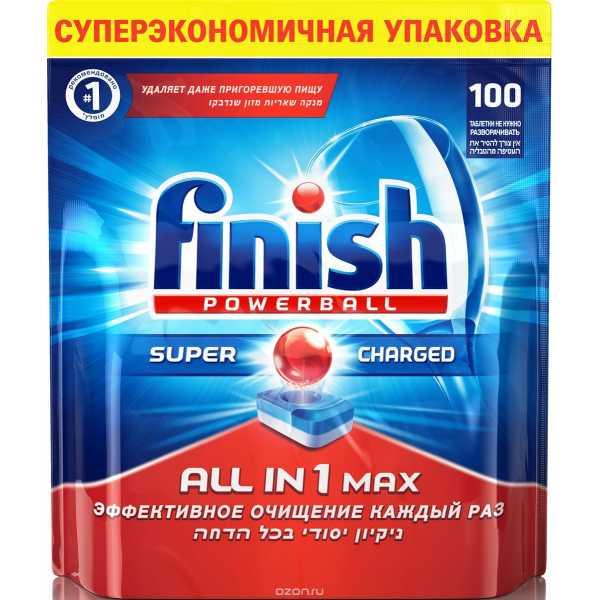 Таблетки для посудомоечных машин Finish All in 1 max, 100шт.