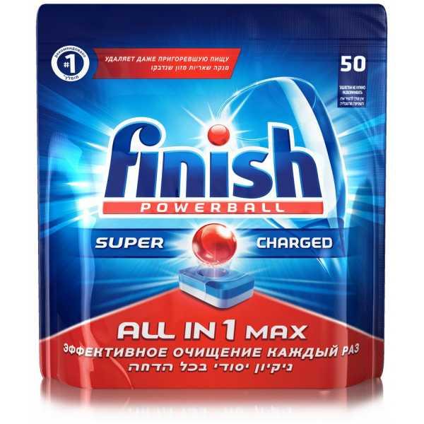 Таблетки для посудомоечных машин FINISH All in 1 max, 50шт