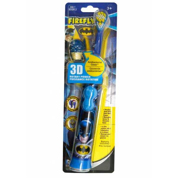 Электрическая детская зубная щетка Batman Rotary Brush with 3D cap. С 3-х лет.