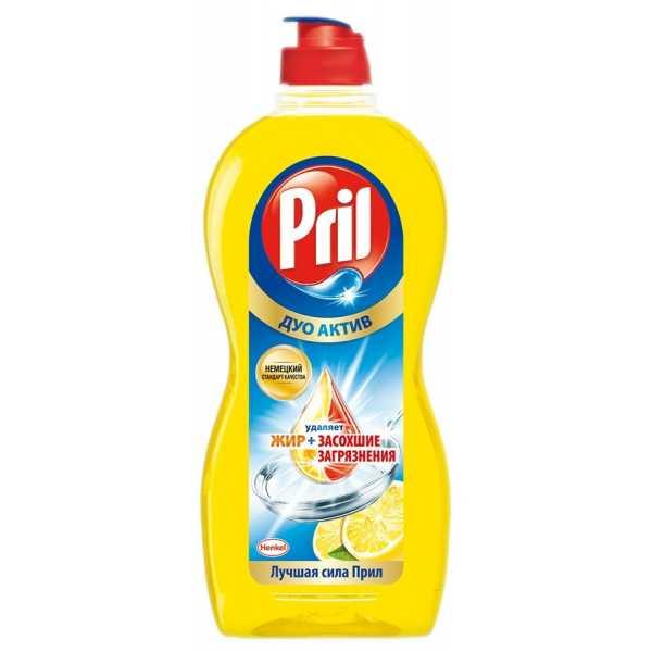 Средство для мытья посуды Pril Дуо Актив Лимон, 450 мл