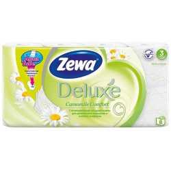 """Туалетная бумага Zewa Deluxe """"Ромашка"""", 3 слоя, 8 рулонов"""