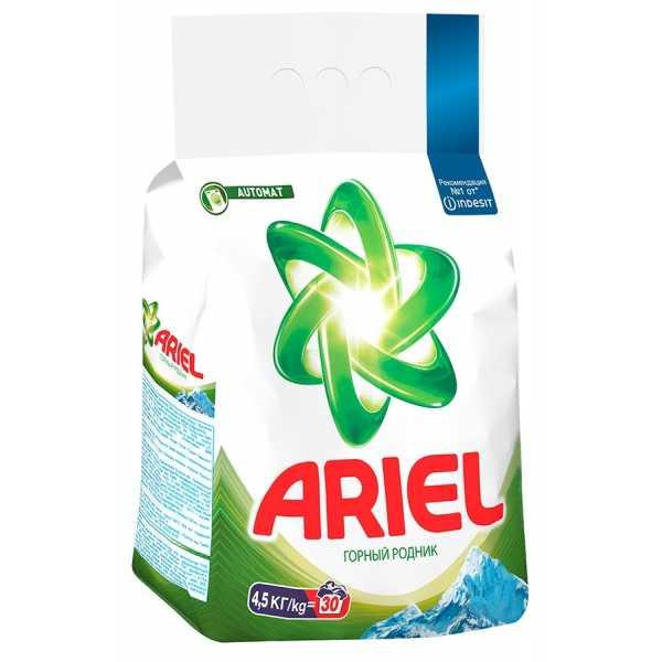 """Стиральный порошок Ariel """"Горный родник"""", автомат, 4,5 кг"""