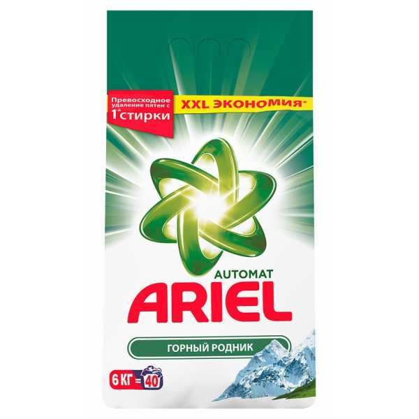 """Стиральный порошок Ariel автомат """"Горный родник"""", 6 кг"""
