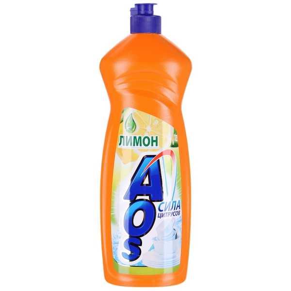 """Средство для мытья посуды Aos """"Лимон"""", 1 л"""