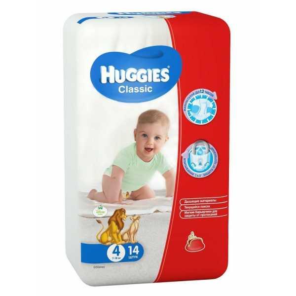 Подгузники Huggies Classic 4 (7-18 кг), 14 шт