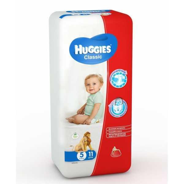 Подгузники Huggies Classic 5 (11-25 кг), 11 шт