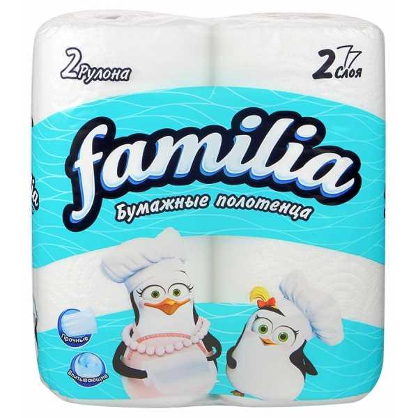 Полотенца бумажные Familia 2 слоя, 2 рулона