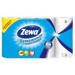 Полотенца бумажные Zewa 2 слоя, 4 рулона