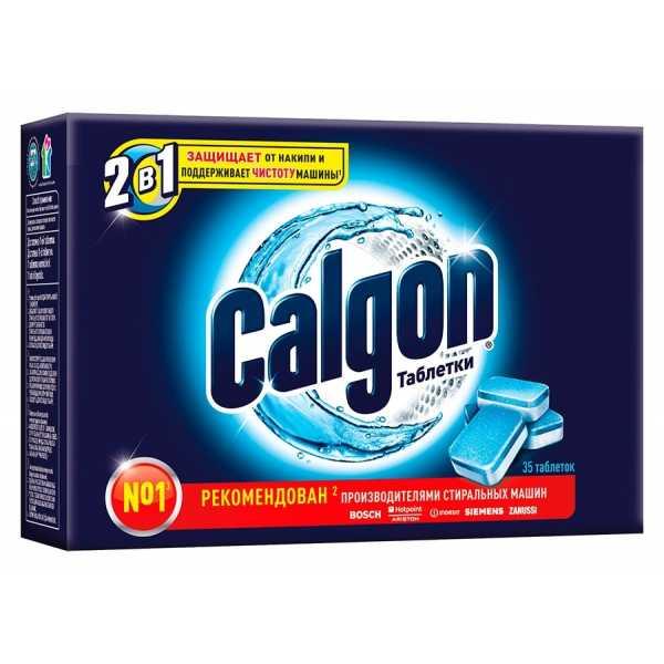 Таблетки Calgon 2в1 для смягчения воды и предотвращения образования накипи, 35 шт