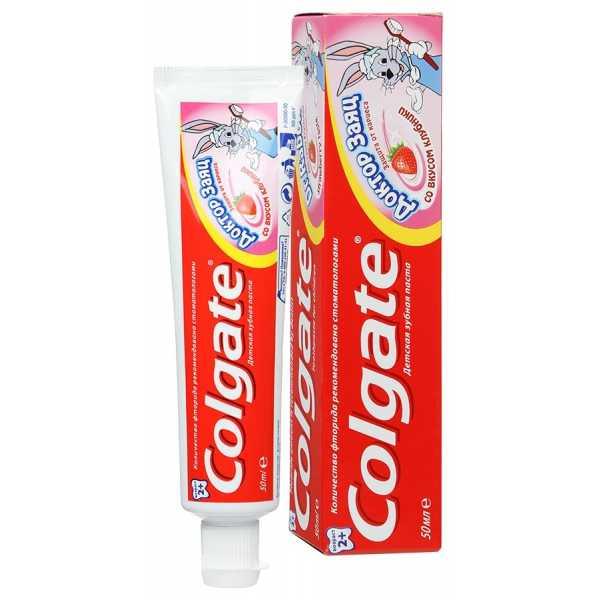 Зубная паста Colgate Доктор заяц со вкусом клубники, 50 мл