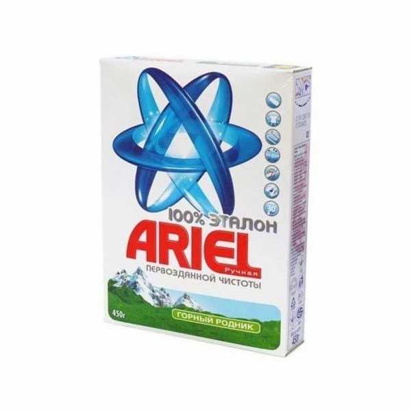 """Стиральный порошок Ariel """"Горный родник"""", ручная стирка, 450 гр"""
