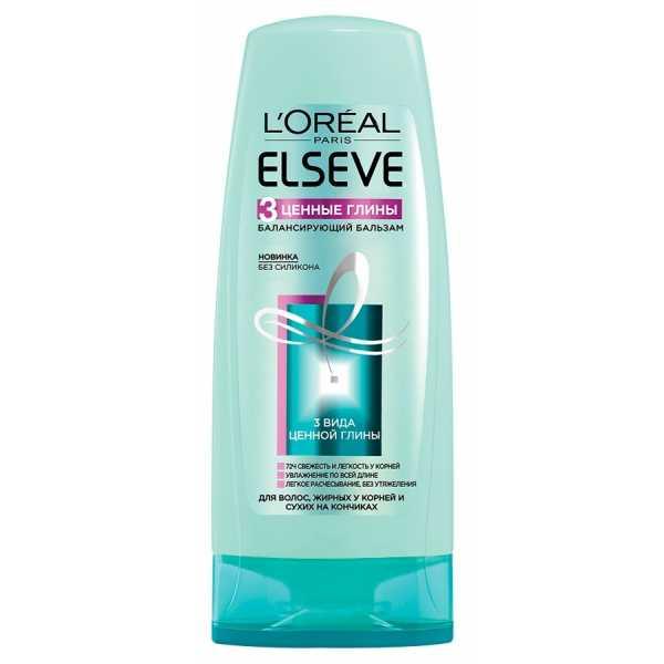 """Бальзам L'Oreal Elseve """"3 вида ценной глины"""" для волос, жирных у корней и сухих на кончиках, 200 мл"""